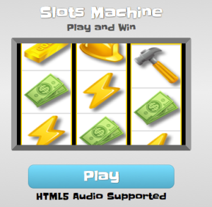 Slots with audio
